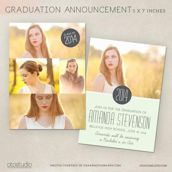 Graduation Invitation Templates Photoshop Luxury Graduation Announcement Template Shop Photo by Otostudio