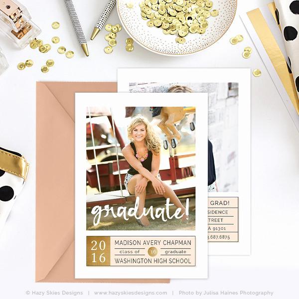 Graduation Invitation Templates Photoshop Luxury Senior Graduation Announcement Template