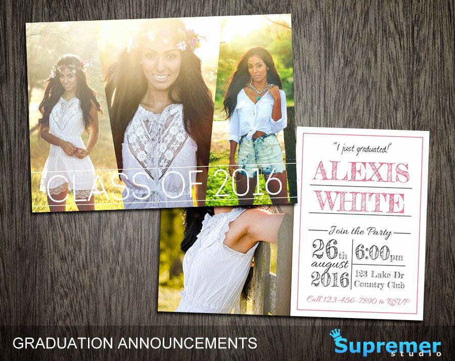 Graduation Invitation Templates Photoshop New Graduation Announcements Templates Graduation Card Templates