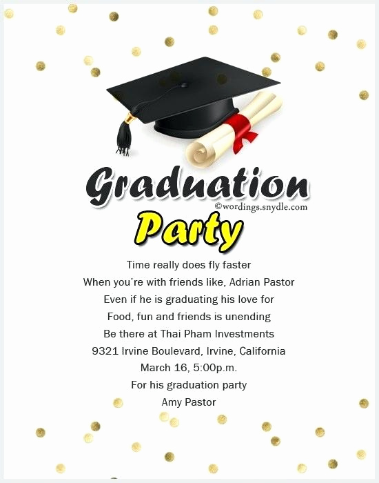 Graduation Invitation Text Message Beautiful Graduation Invitation Message – Altwell