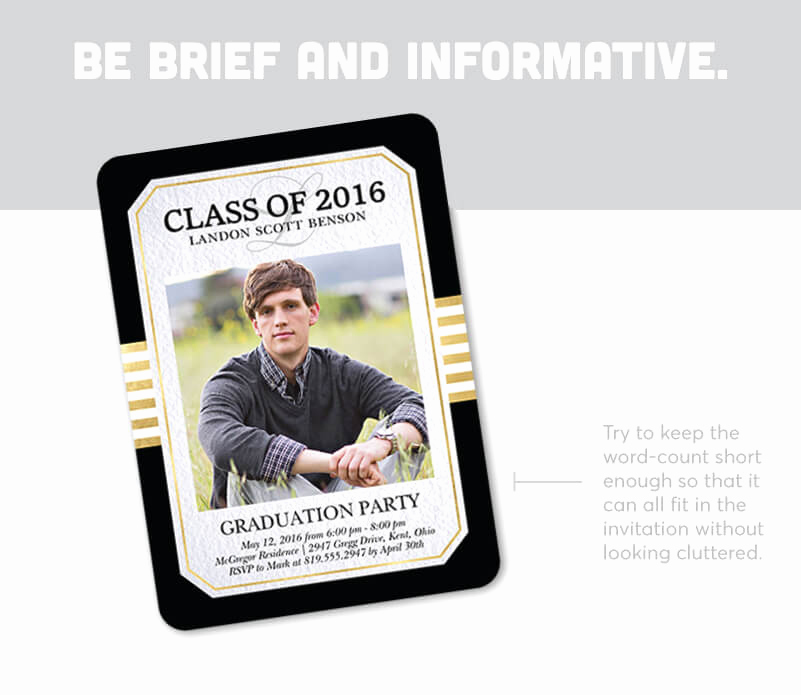 graduation invitation wording examples