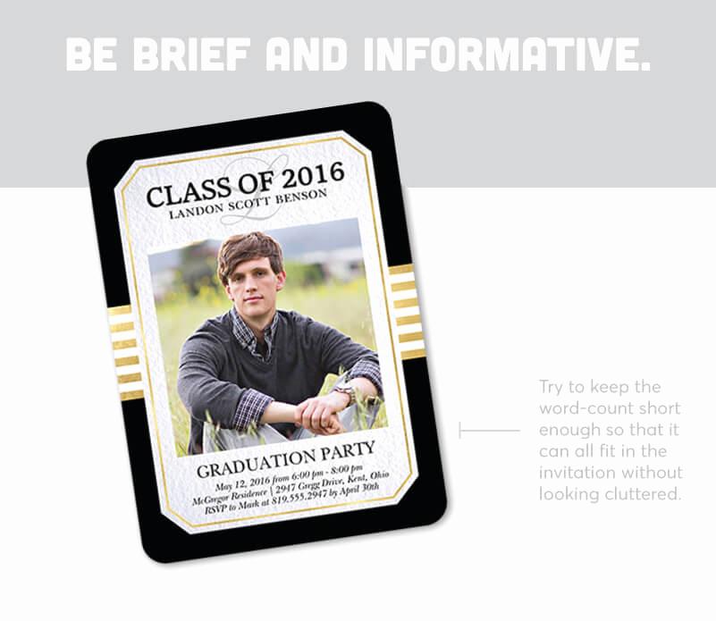 graduation invitation wording examples