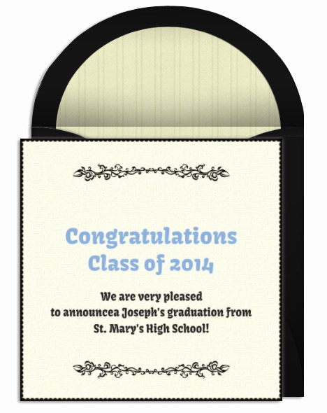 Graduation Invitation Text Message Elegant Graduation Announcement Wording