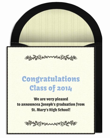 Graduation Invitation Text Message Elegant Graduation Announcement Wording