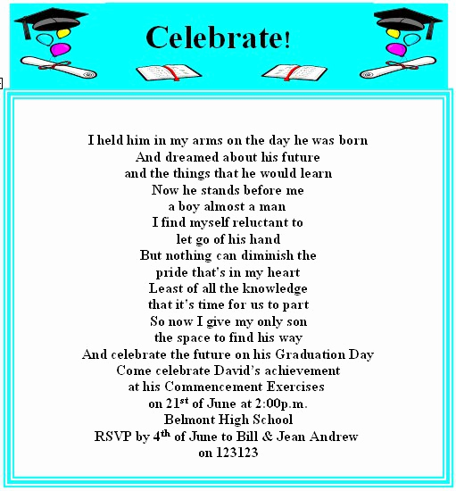 Graduation Invitation Text Message Fresh Funny High School Graduation Invitations