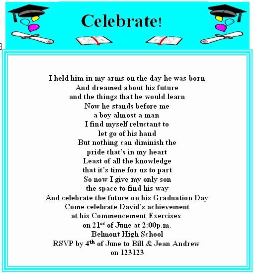 Graduation Invitation Text Message Fresh Funny High School Graduation Invitations