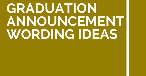 Graduation Invitation Text Message Inspirational 11 High School Graduation Announcement Wording Ideas