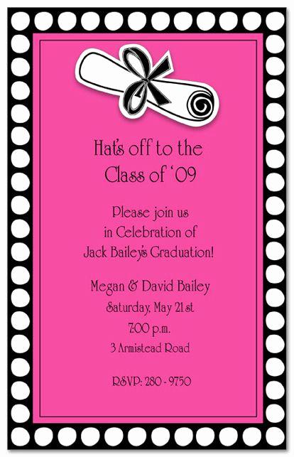Graduation Invitation Text Message Lovely 17 Best Invites Images On Pinterest