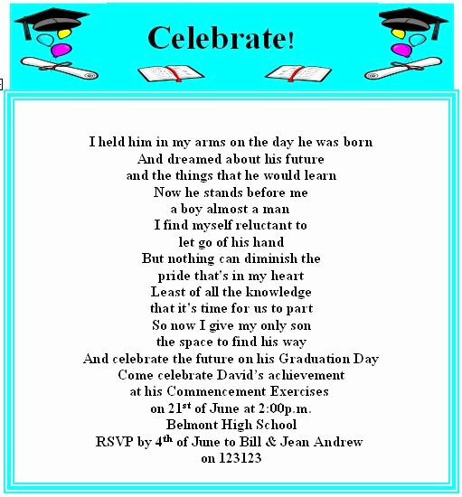 Graduation Invitation Text Message Lovely Best 25 Graduation Invitation Wording Ideas Only On