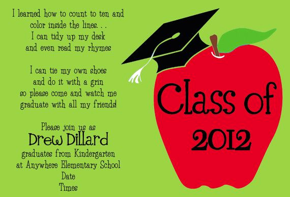 Graduation Invitation Text Message New Love This Invitation Wording for Kindergarten Graduation