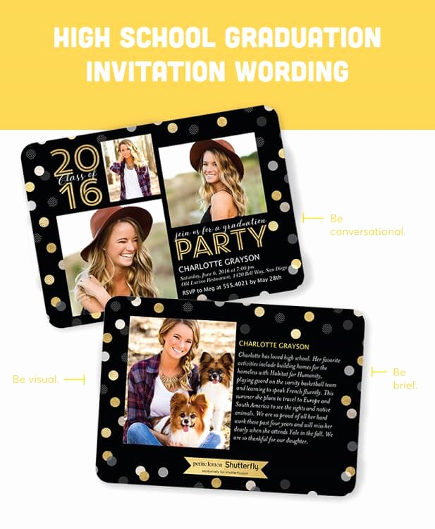 Graduation Invitation Wording High School Beautiful Graduation Invitation Wording Guide for 2018