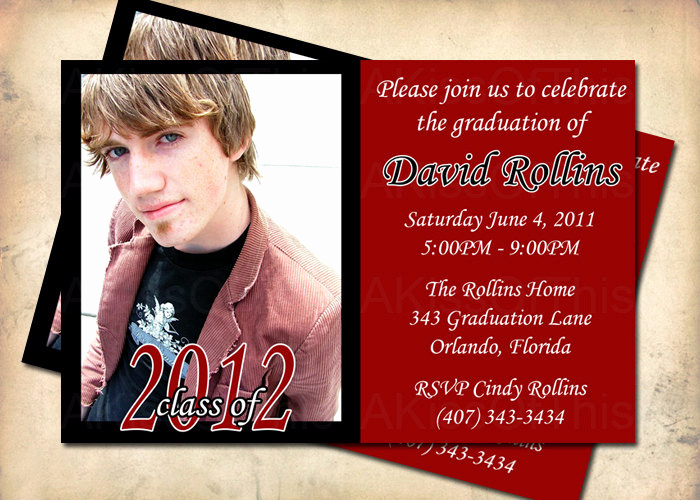 Graduation Invitation Wording Ideas Inspirational Graduation Announcement Grad Party Invitation by Akiss This