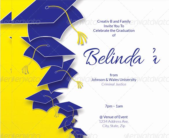 Graduation Invitation Wording Samples New 35 Graduation Invitation Templates Psd Ai Word