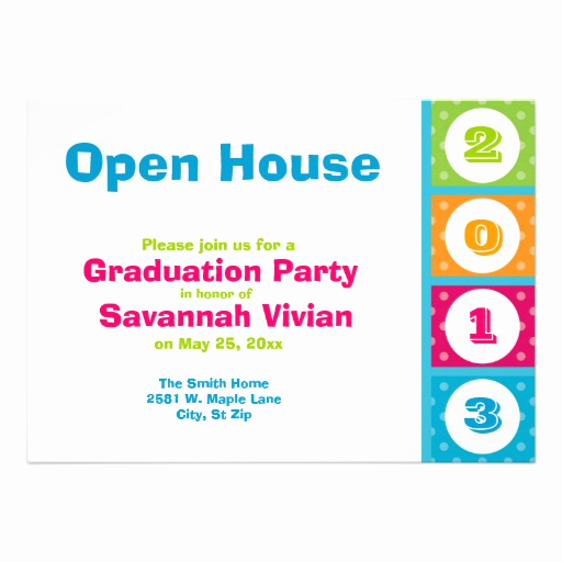 "Graduation Open House Invitation Beautiful 2013 Graduation Party Open House Invitations 5"" X 7"