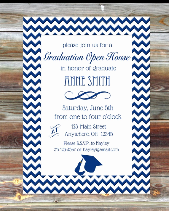 Graduation Open House Invitation Beautiful Graduation Party Open House Invite Custom Color by Viabarrett