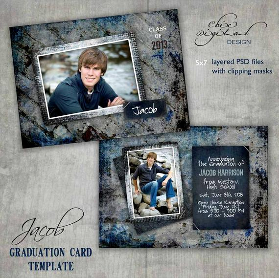 Graduation Open House Invitation Elegant Graduation Announcement Card Template Open House Invitation