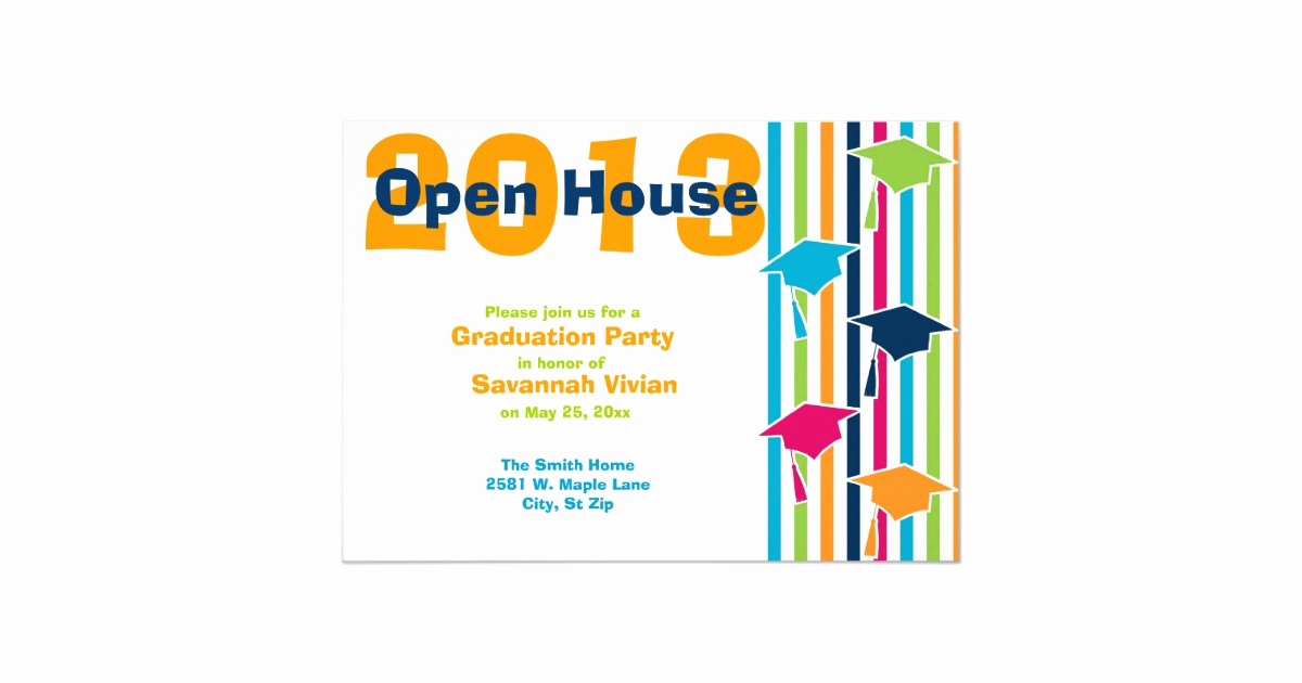 Graduation Open House Invitation Elegant Graduation Party Open House Invitations