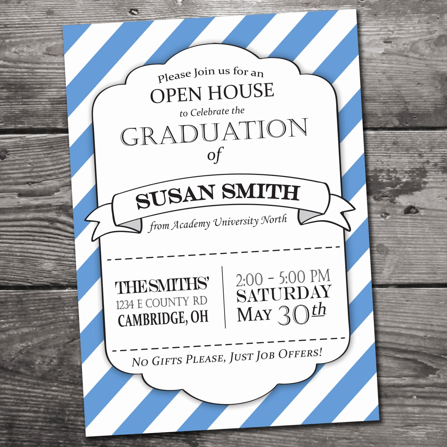 Graduation Open House Invitation Fresh Customizable Graduation Open House Invitation by