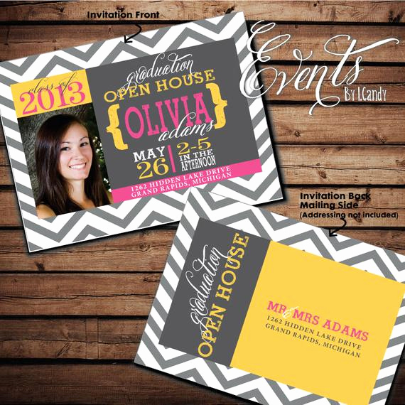 Graduation Open House Invitation Fresh Items Similar to 2014 Graduation Open House Invitation