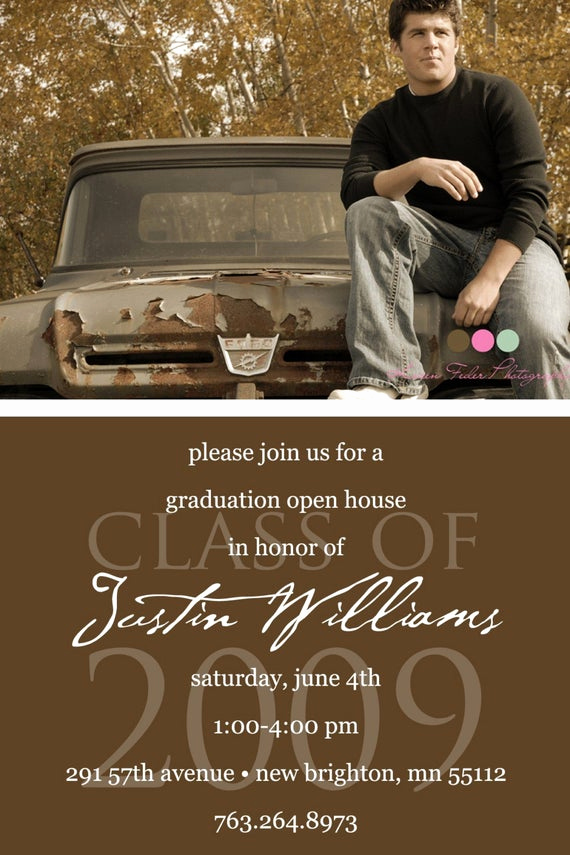 Graduation Open House Invitation Ideas Best Of Simply Classic Custom Graduation Open House Invitation
