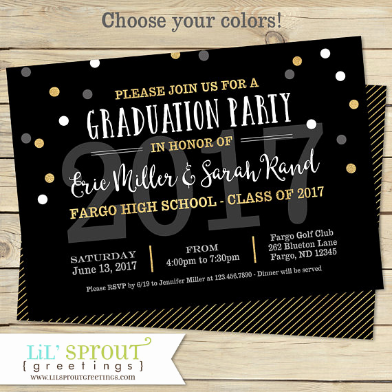 Graduation Open House Invitation Ideas Luxury Printable Graduation Invitation Joint Graduation Party