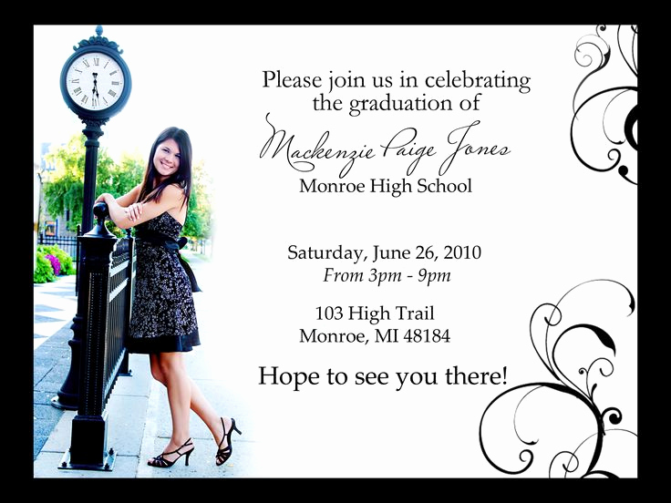 Graduation Open House Invitation Ideas New Image Detail for Graduation Open House Invites Magic