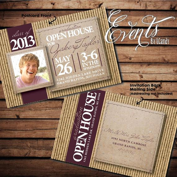 Graduation Open House Invitation Ideas Unique 2014 Graduation Open House Invitation Postcard by