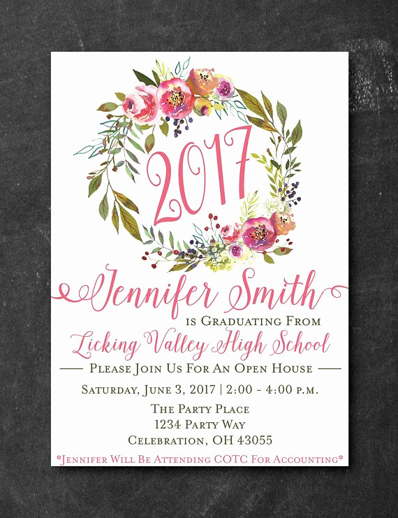 Graduation Open House Invitation Lovely 25 Best Ideas About Open House Invitation On Pinterest