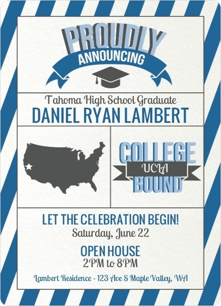 Graduation Open House Invitation Templates Best Of 51 Best Images About Graduation Open House Ideas On