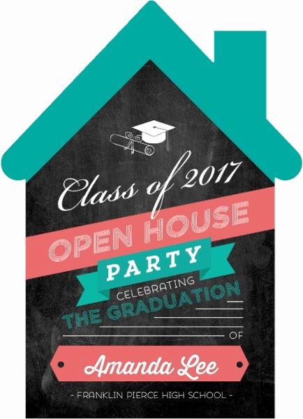 Graduation Open House Invitation Templates Elegant Fun Open House Graduation Party Invitation