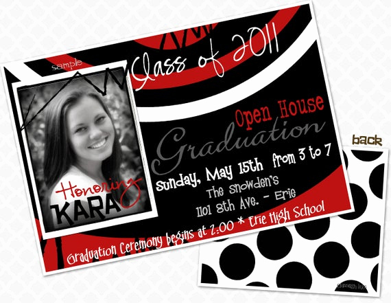 Graduation Open House Invitation Templates Elegant Swirl Graduation Party Invite Graduation Open House Invitation