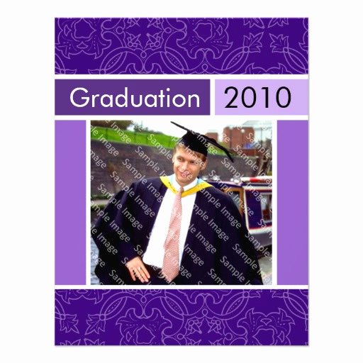 "Graduation Open House Invitation Templates Fresh Purple Open House Party Graduation Invitations 4 25"" X 5 5"