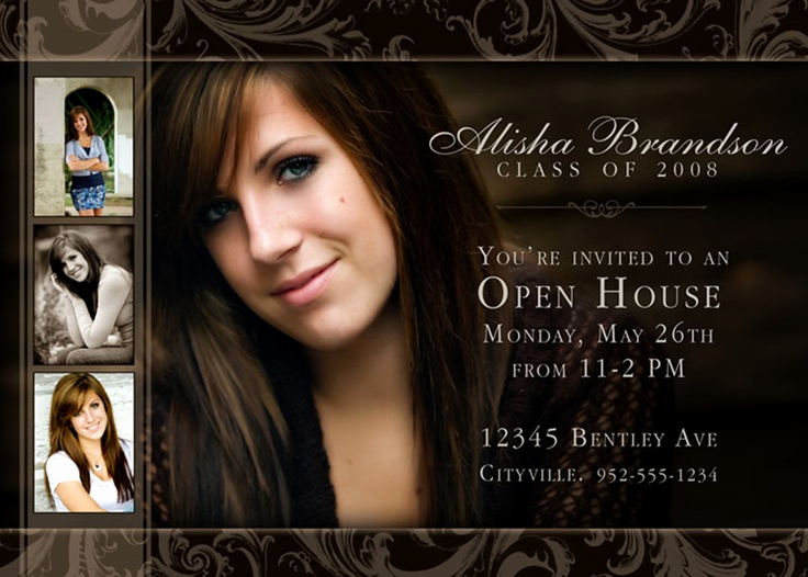 Graduation Open House Invitation Templates Lovely 1000 Images About Invitations Open House Graduates On