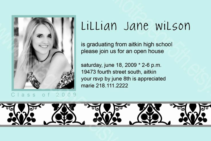 Graduation Open House Invitation Wording Awesome Open House Graduation Party Invitation Wording