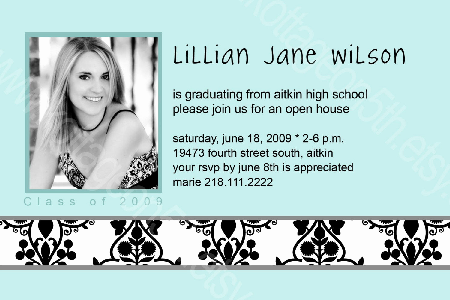 Graduation Open House Invitation Wording Elegant Items Similar to 2010 Graduation Announcement Open House