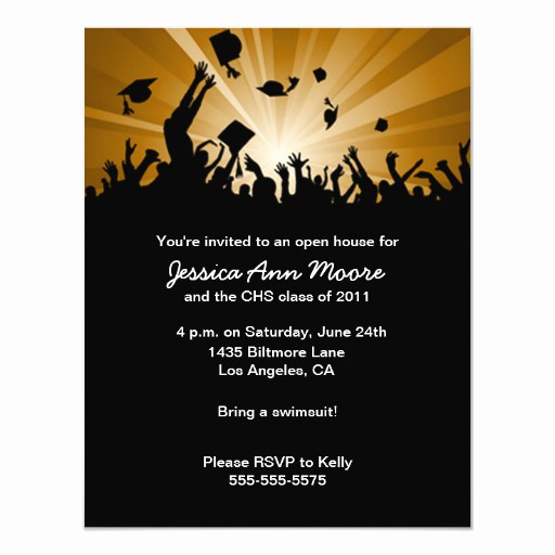 Graduation Open House Invitation Wording New Graduation Open House Invitation