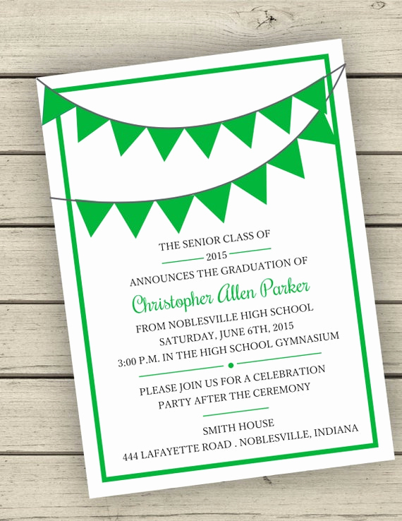 Graduation Open House Invitation Wording New Printable Class 2015 Graduation Announcement or Open House