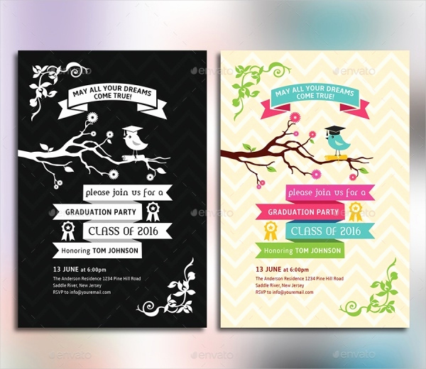 Graduation Party Invitation Cards Awesome 25 Graduation Card Designs Psd Vector Eps Jpg Downloa