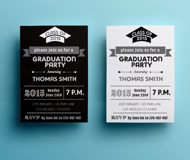 Graduation Party Invitation Cards Awesome 52 Card Designs Ai Word Psd Indesign