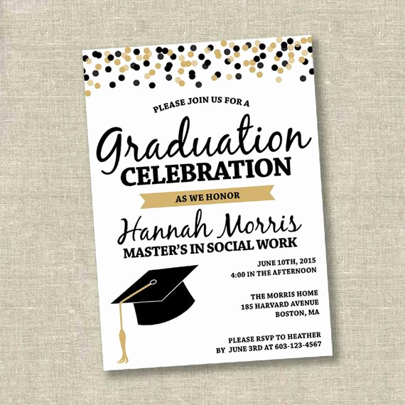 Graduation Party Invitation Cards Best Of Graduation Invitation College Graduation Invitation High