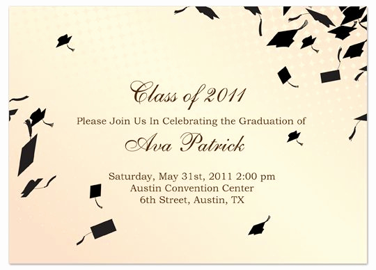 Graduation Party Invitation Cards Lovely Download Sample Graduation Invitation Announcement Cream