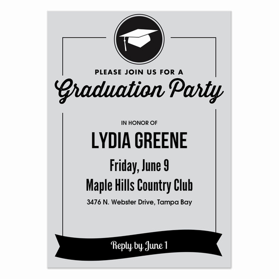 Graduation Party Invitation Cards Lovely Graduation Party Invitations & Cards On Pingg