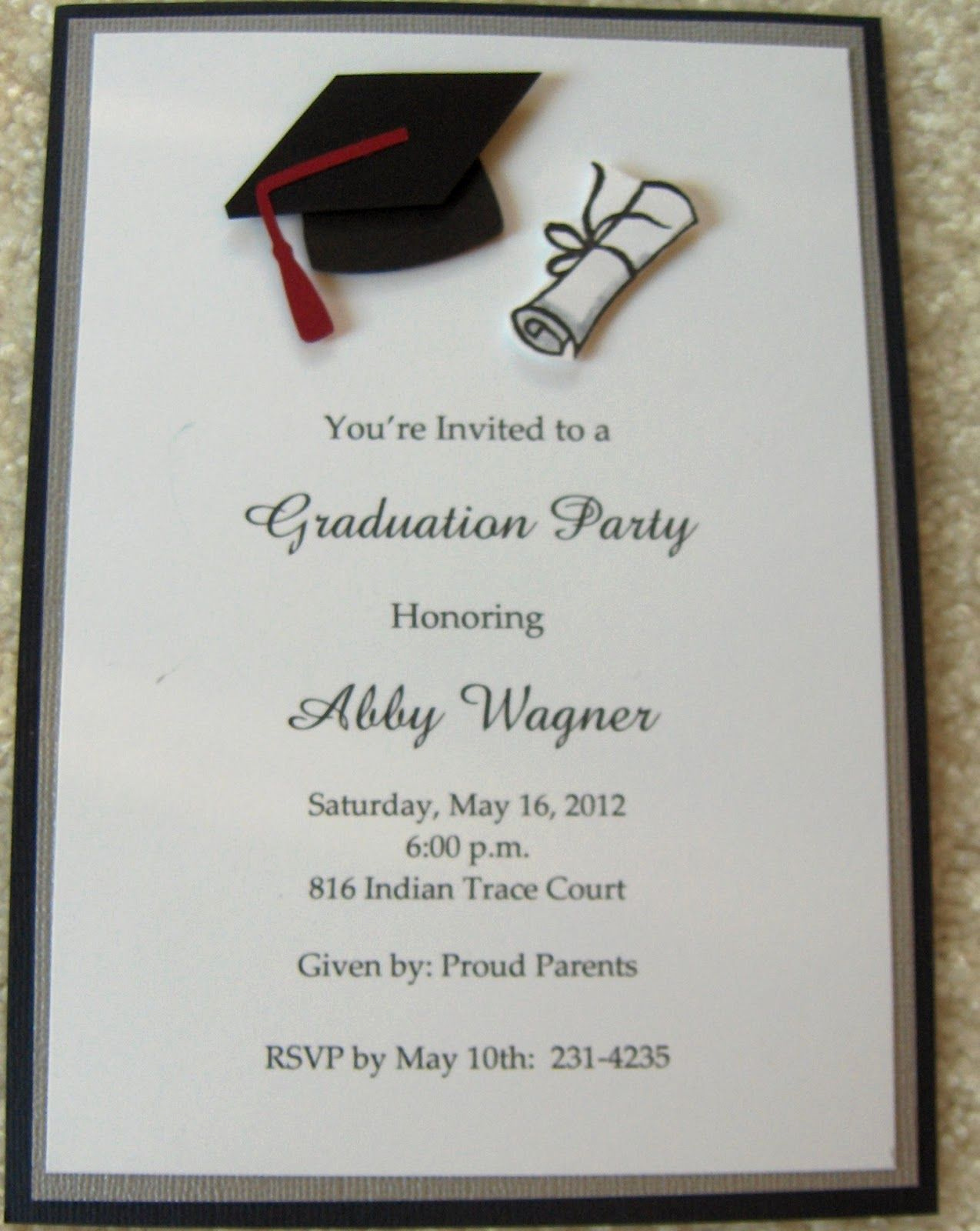 Graduation Party Invitation Cards Luxury Graduation Invitations Google Search