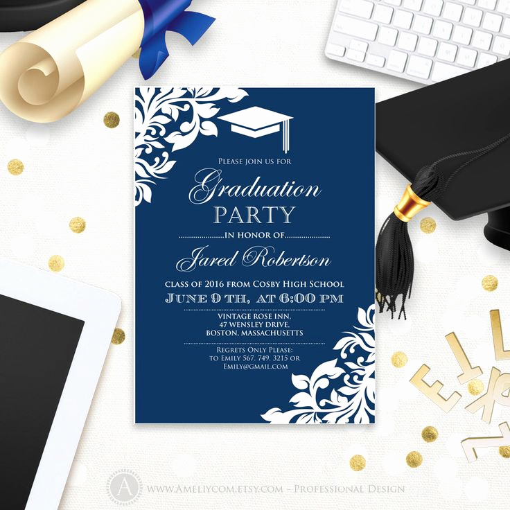 Graduation Party Invitation Ideas Elegant Best 25 High School Graduation Invitations Ideas On