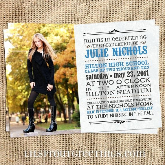 Graduation Party Invitation Ideas New Bulletin Style Graduation Invitation Class Of 2019