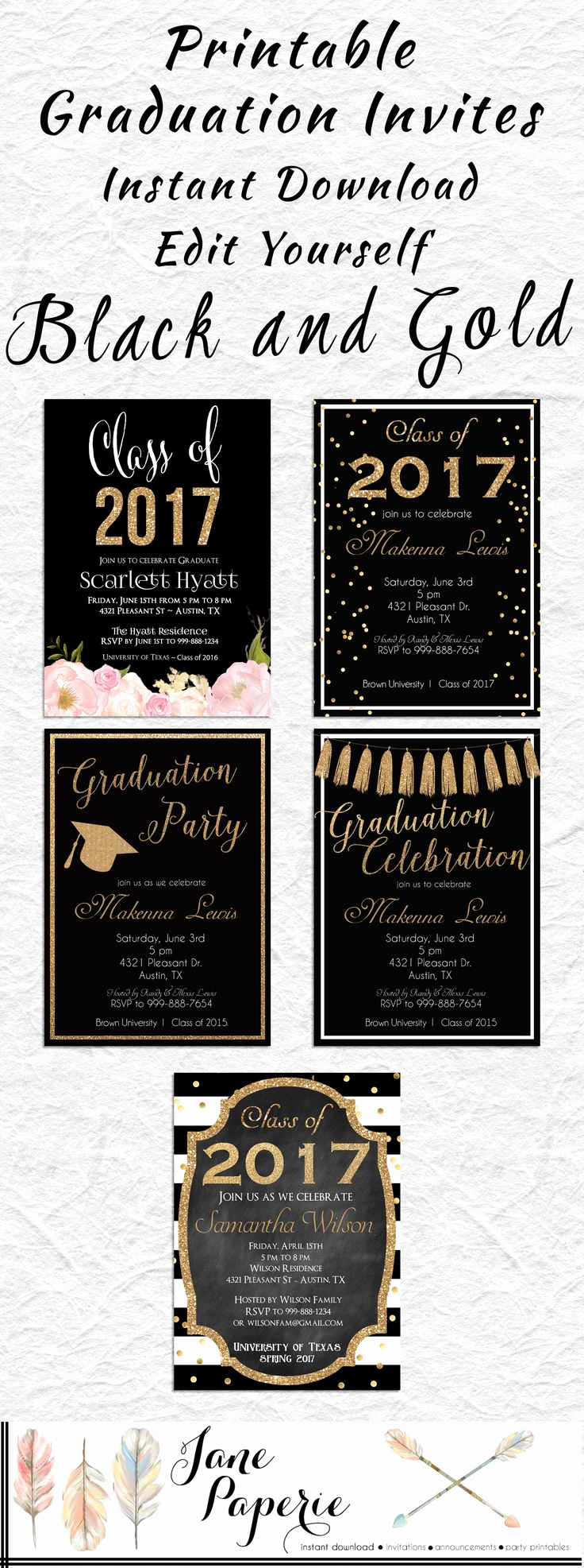 Graduation Party Invitation Ideas Unique Best 25 High School Graduation Invitations Ideas On