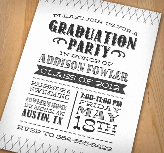 Graduation Party Invitation Ideas Unique Wip Blog Graduation Party Ideas