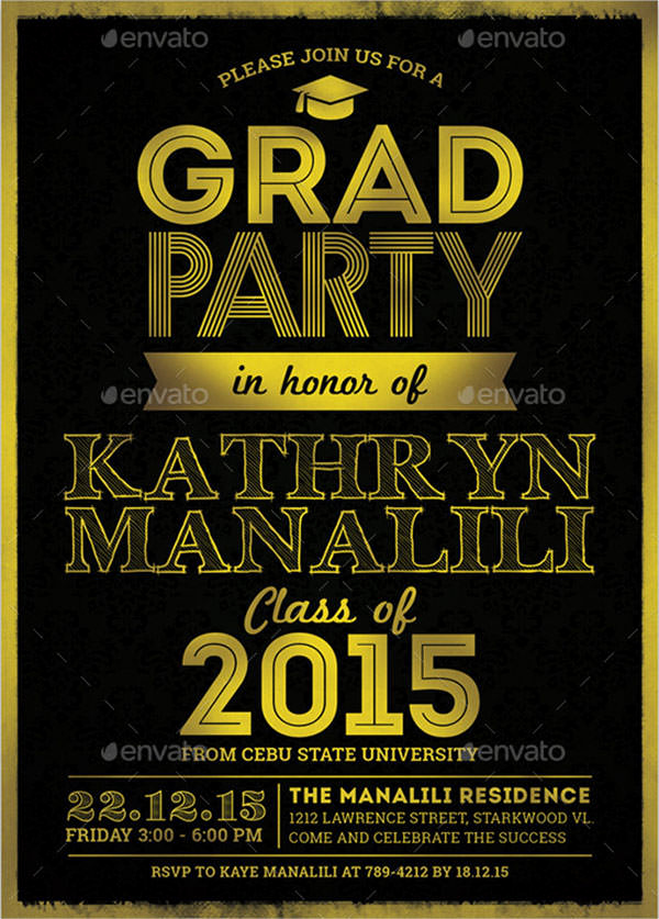 Graduation Party Invitation Maker Beautiful 7 Graduation Invitation Templates