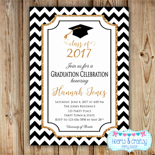 Graduation Party Invitation Maker Fresh 31 Examples Of Graduation Invitation Designs Psd Ai