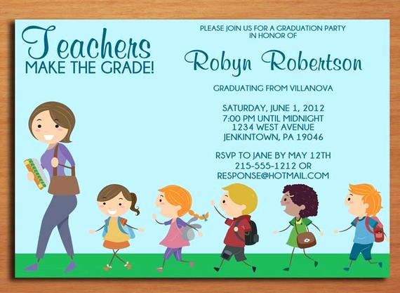 Graduation Party Invitation Maker Fresh Teacher Elementary Education Degree Graduation Party